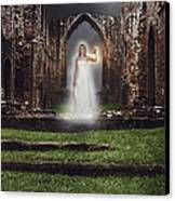 Abbey Ghost Canvas Print by Amanda And Christopher Elwell