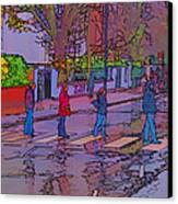 Abbey Road Crossing Canvas Print by Chris Thaxter