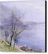 Above Montreux Canvas Print by John William Inchbold