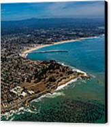 Above Santa Cruz California Looking East Canvas Print by Randy Straka
