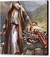 Abraham And Isaac Canvas Print by Harold Copping