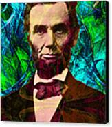 Abraham Lincoln 2014020502p145 Canvas Print by Wingsdomain Art and Photography