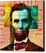 Abraham Lincoln All Men Are Created Equal 2014020502 Canvas Print by Wingsdomain Art and Photography