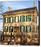 Abraham Lincoln Home In Springfield Illinois Canvas Print by Paul Velgos