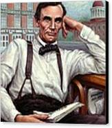Abraham Lincoln Of Springfield Bicentennial Portrait Canvas Print by Jane Bucci