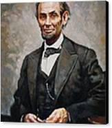 Abraham Lincoln Canvas Print by Ylli Haruni