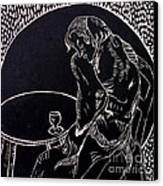 Absinthe Drinker After Picasso Canvas Print by Caroline Street
