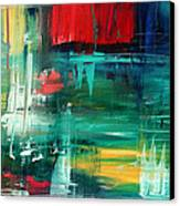 Abstract Art Colorful Original Painting Bold And Beautiful By Madart Canvas Print by Megan Duncanson