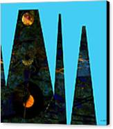 abstract - art- Mystical Moons  Canvas Print by Ann Powell