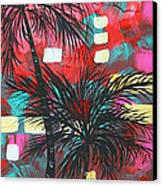 Abstract Art Original Tropical Landscape Painting Fun In The Tropics By Madart Canvas Print by Megan Duncanson