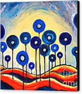 Abstract Blue Symphony  Canvas Print by Ramona Matei