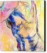 Abstract Bod 6 Canvas Print by Mark Ashkenazi