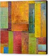 Abstract Color Study Collage L Canvas Print by Michelle Calkins