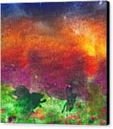 Abstract - Crayon - Utopia Canvas Print by Mike Savad