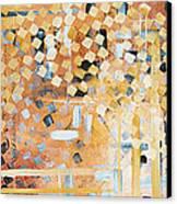 Abstract Decorative Art Original Diamond Checkers Trendy Painting By Madart Studios Canvas Print by Megan Duncanson