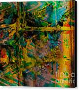 Abstract - Emotion - Facade Canvas Print by Barbara Griffin