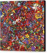 Abstract - Fabric Paint - Sanity Canvas Print by Mike Savad