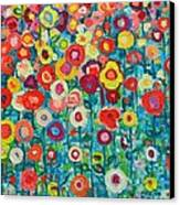 Abstract Garden Of Happiness Canvas Print by Ana Maria Edulescu