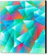Abstract Geometry Of Triangles In Digital Art Canvas Print by Mario Perez