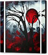Abstract Gothic Art Original Landscape Painting Imagine By Madart Canvas Print by Megan Duncanson