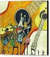 Abstract Guitars Canvas Print by Larry Lamb