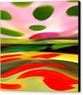 Abstract Landscape Of Happiness Canvas Print by Amy Vangsgard