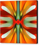Abstract Red Tree Symmetry Canvas Print by Amy Vangsgard