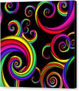 Abstract - Spirals - Inside A Clown Canvas Print by Mike Savad