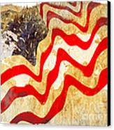 Abstract Usa Flag Canvas Print by Stefano Senise