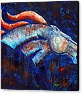 Abstracted Bronco Canvas Print by Jennifer Godshalk