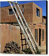 Acoma Pueblo Adobe Homes 3 Canvas Print by Mike McGlothlen