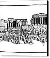 Acropolis Of Athens Canvas Print by Calvin Durham