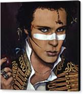 Adam Ant Canvas Print by Jane Whiting Chrzanoska