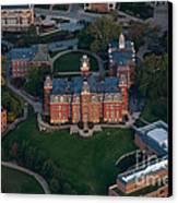 Aerial Of Woodburn Hall Canvas Print by Dan Friend