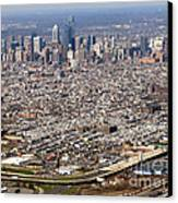 Aerial Philadelphia Canvas Print by Olivier Le Queinec