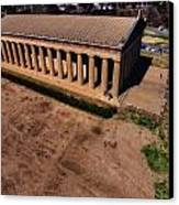 Aerial Photography Of The Parthenon Canvas Print by Dan Sproul