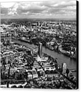 Aerial View Of London Canvas Print by Mark Rogan