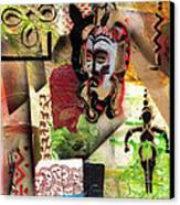 Afro Aesthetic A  Canvas Print by Everett Spruill