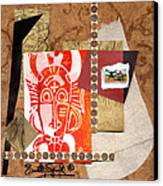 Afro Collage A Canvas Print by Everett Spruill