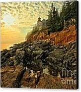 Afternoon At Bass Harbor Canvas Print by Adam Jewell