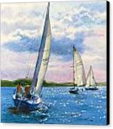 Afternoon Sail Canvas Print by Karol Wyckoff