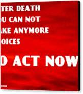 Against Suicide Canvas Print by Sir Josef - Social Critic - ART