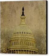 Aged Capitol Dome Canvas Print by Terry Rowe