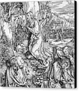 Agony In The Garden From The 'great Passion' Series Canvas Print by Albrecht Duerer