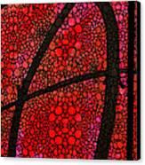 Ah - Red Stone Rock'd Art By Sharon Cummings Canvas Print by Sharon Cummings
