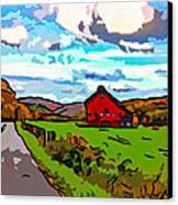 Ah...west Virginia Line Art Canvas Print by Steve Harrington