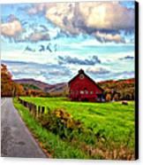 Ah...west Virginia Painted Canvas Print by Steve Harrington
