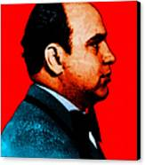 Al Capone C28169 - Red - Painterly - Text Canvas Print by Wingsdomain Art and Photography