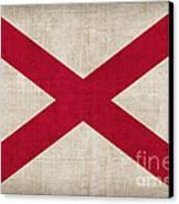 Alabama State Flag Canvas Print by Pixel Chimp