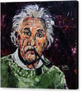 Albert Einstein Canvas Print by Becky Kim